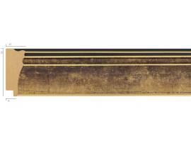Rama plastic auriu 53001