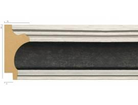 Rama plastic negru cu bordura argintie 8036-6